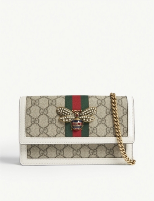 GUCCI Queen Margaret coated canvas cross-body bag