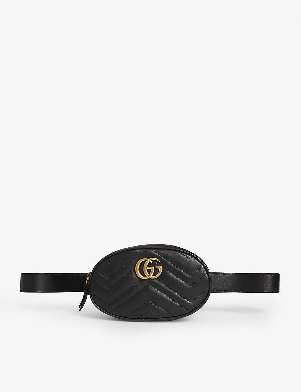 Marmont leather belt bag - BLACK