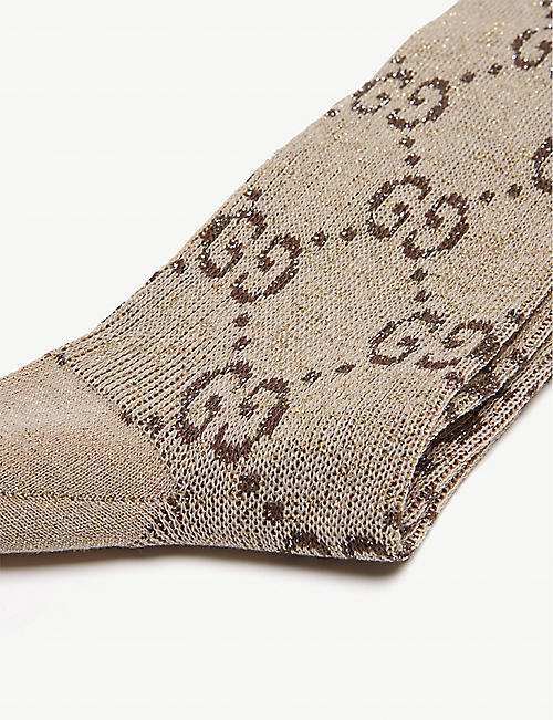 GUCCI GG Diamond intarsia cotton-blend socks