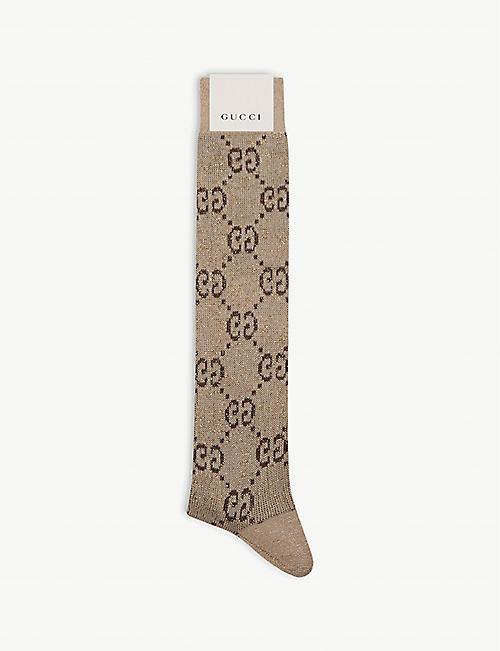 3eabca98f35 GUCCI GG Diamond intarsia cotton-blend socks