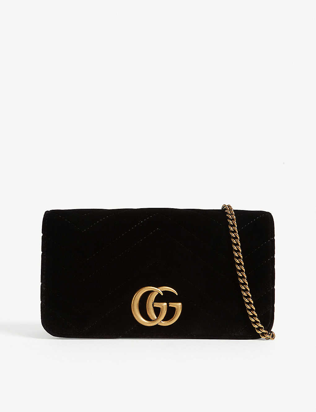 0adf5914b3a GUCCI - Velvet Marmont clutch bag
