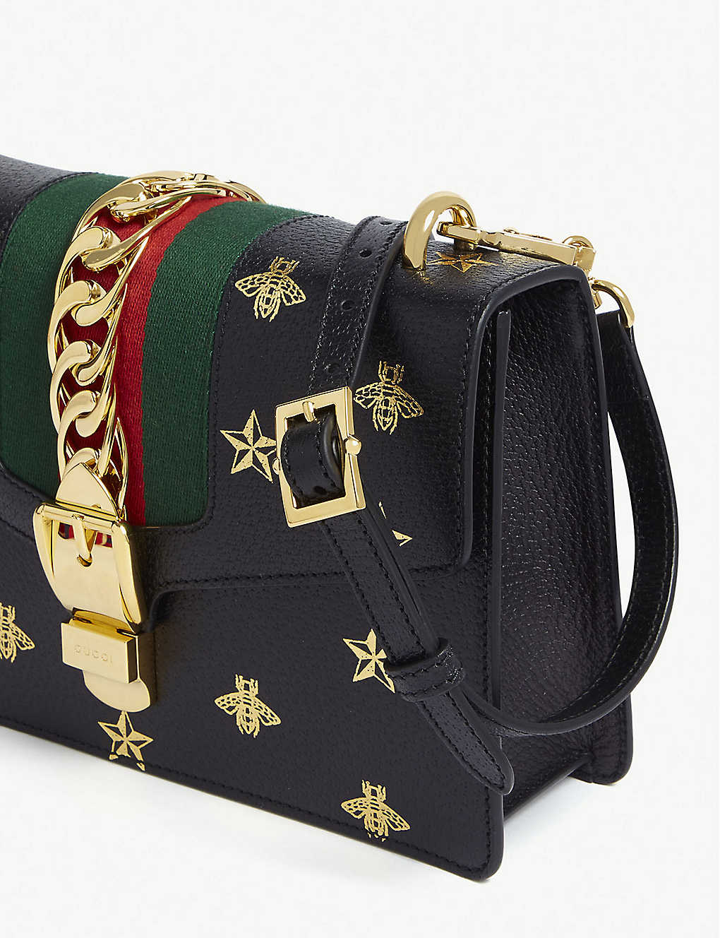 d784e9fd0ff4 GUCCI - Sylvie bees leather medium shoulder bag | Selfridges.com