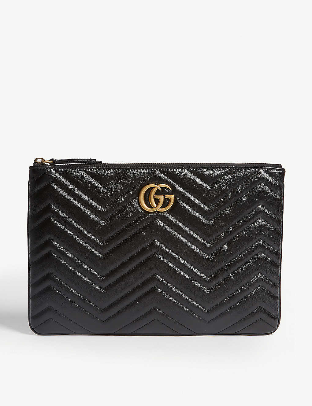 382a1e05e3a GG Marmont quilted leather pouch - Black ...