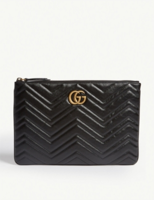 GUCCI GG Marmont quilted leather pouch