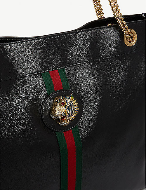 GUCCI Rajah large leather tote bag