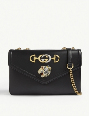 GUCCI Rajah leather shoulder bag