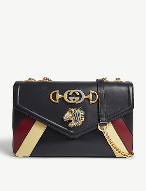 GUCCI Rajah medium leather shoulder bag