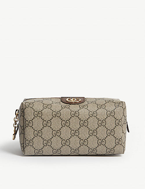 GUCCI Ophidia GG Supreme coated canvas cosmetics case
