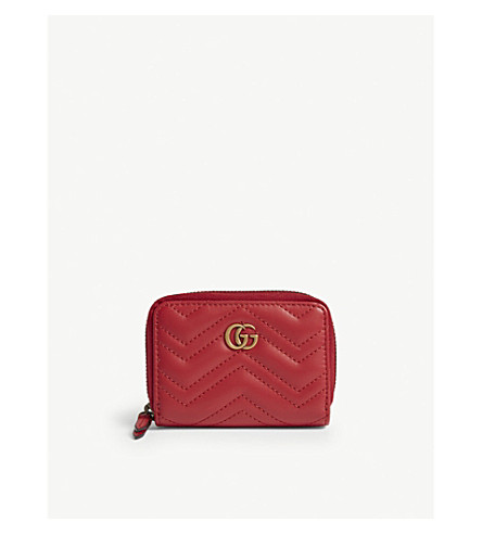 c67ec6511be GUCCI Marmont zip around wallet (Red