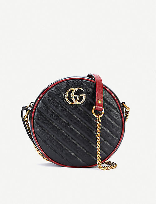 GUCCI: GG Marmont mini leather shoulder bag
