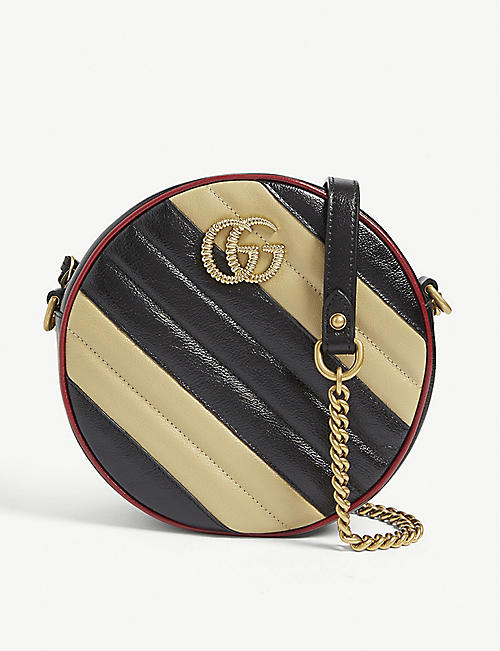 a6304dd732efa GUCCI GG Marmont mini leather shoulder bag