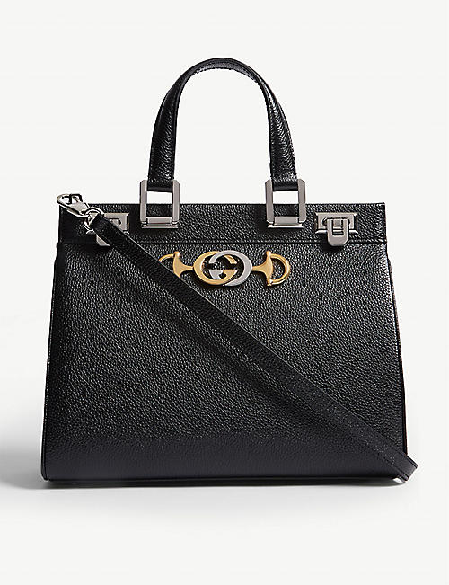 cae0e6f147a GUCCI Linea Borghese leather shoulder bag