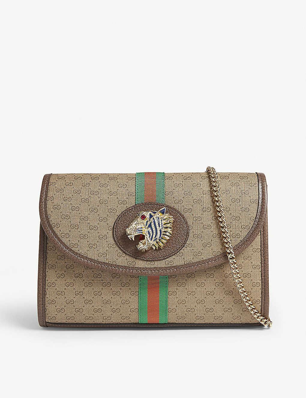 c7aef1e0304462 GUCCI - Rajah GG shoulder bag | Selfridges.com