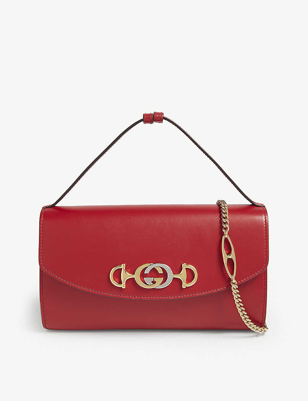 8abbd5f819b Zumi small leather shoulder bag - Hibiscus red ...