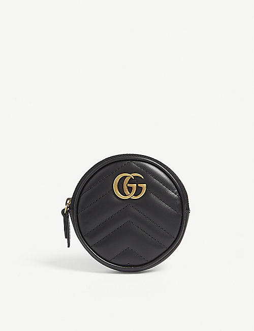 GUCCI: Marmont quilted leather purse