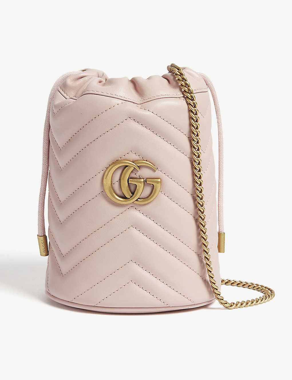 Marmont mini leather bucket bag - PERFECT PINK