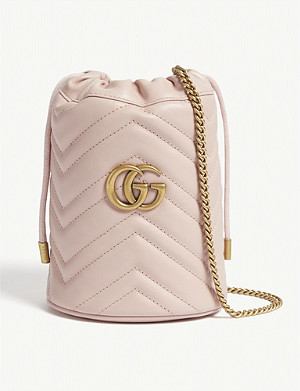 GUCCI Marmont mini leather bucket bag