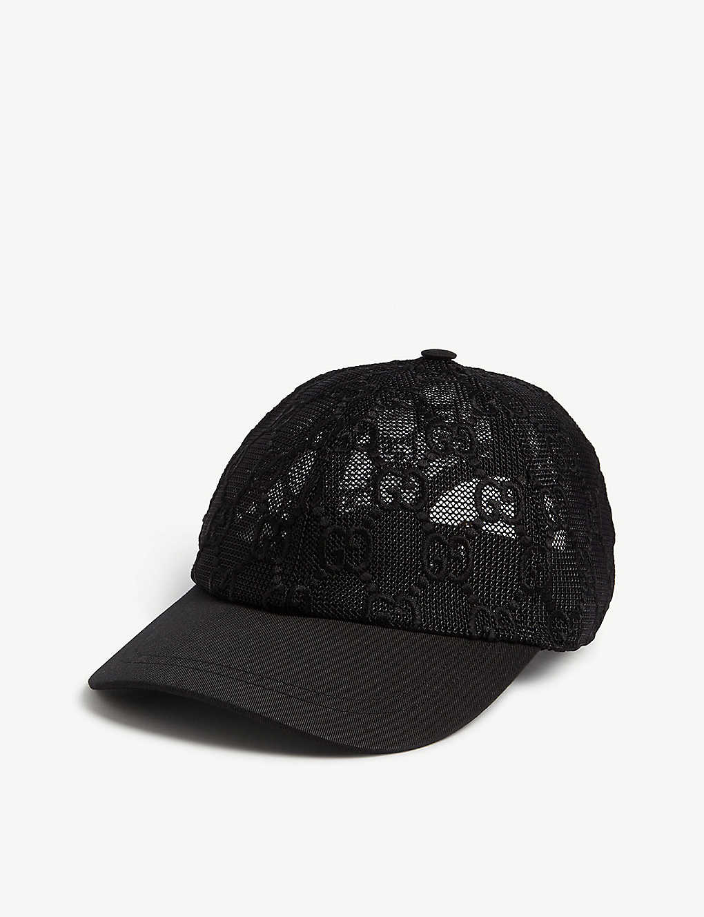 GUCCI: GG embroidered cotton lace baseball cap