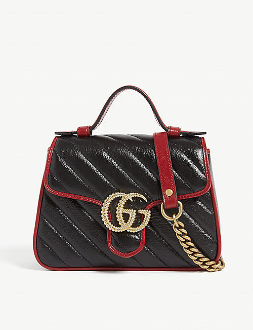 GUCCI Marmont mini leather shoulder bag