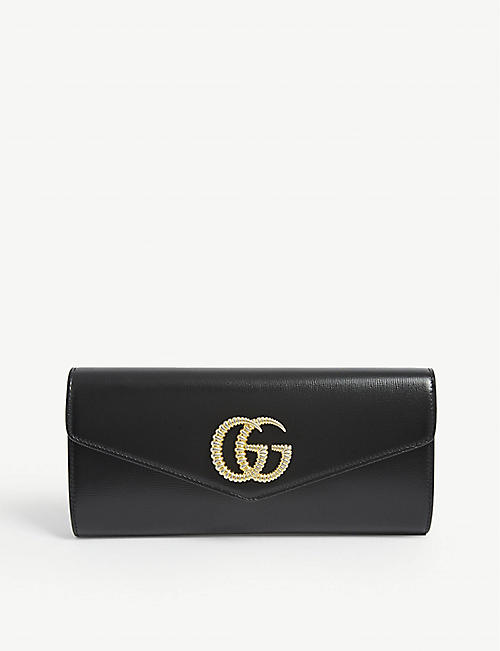 GUCCI: Broadway leather clutch