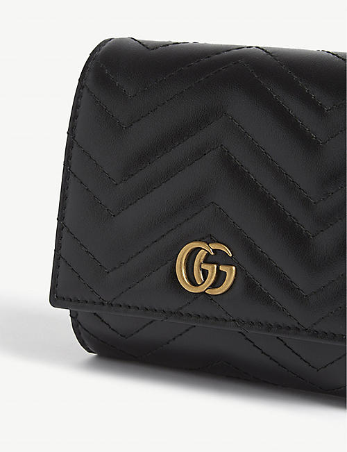 GUCCI GG Marmont small leather wallet