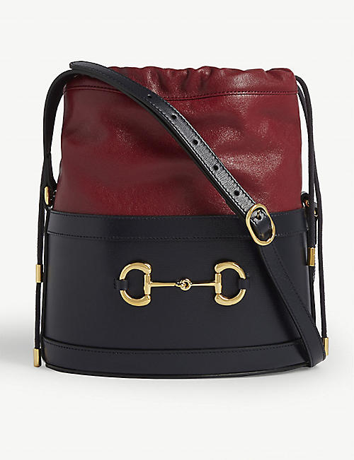 GUCCI: Morsetto Horsebit leather bucket bag