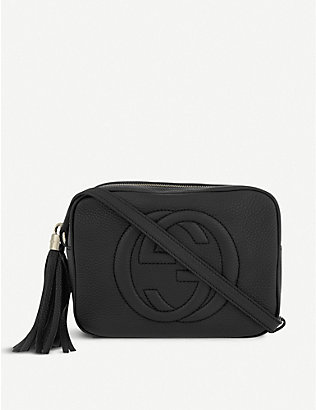 GUCCI: Soho leather disco cross-body bag