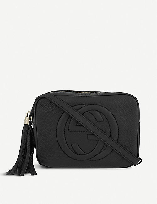 5a23679a7c2 GUCCI Soho leather cross-body bag