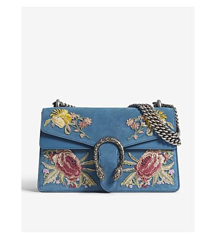 1921f9cf3c8 GUCCI - Gucci Dionysus small suede floral applique shoulder bag ...