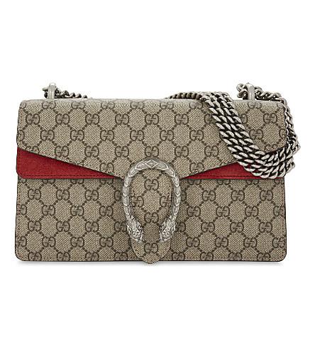 ee624792c0f9 GUCCI - Dionysus small GG Supreme canvas shoulder bag | Selfridges.com