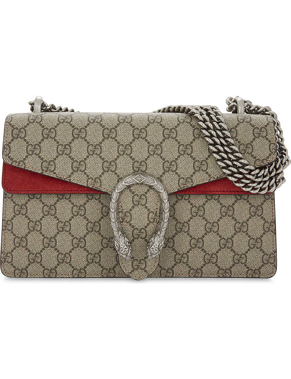 78d21ad38d71 GUCCI - Dionysus small GG Supreme canvas shoulder bag | Selfridges.com