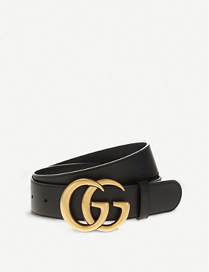 a989b0266 GUCCI - Double G leather belt | Selfridges.com