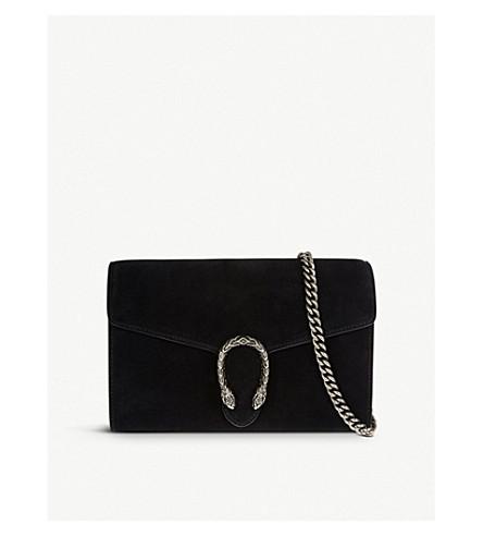 GUCCI Dionysus suede shoulder bag (Black 581651f44dbac