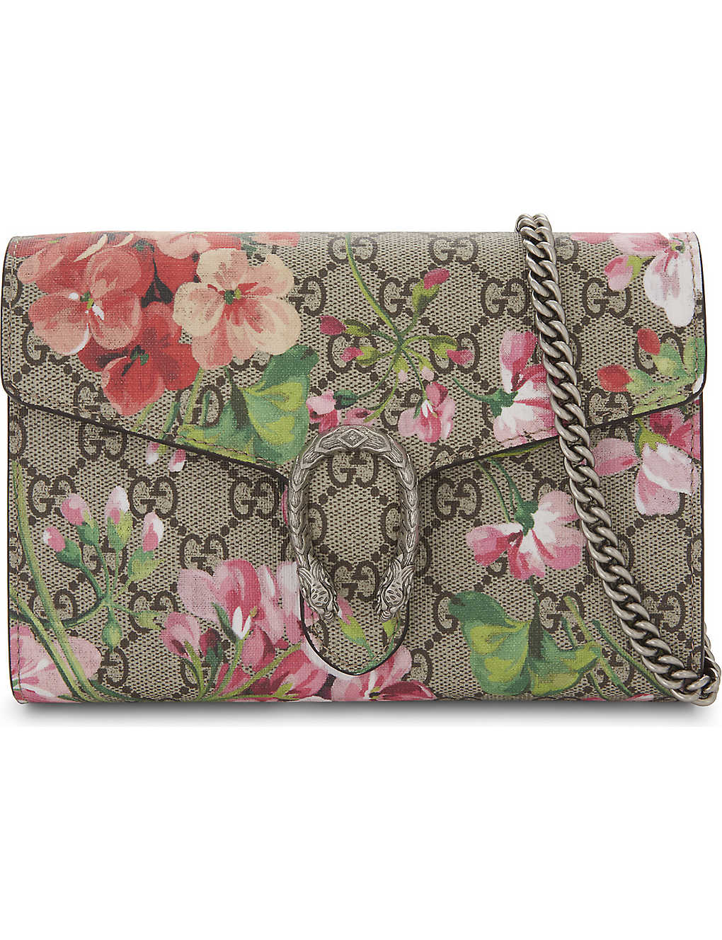 a62c96a813e6 GUCCI - Dionysus GG Supreme floral-print wallet-on-chain ...