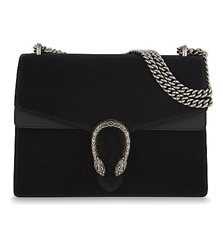 a9305983b2d4 GUCCI Dionysus medium suede shoulder bag (Black