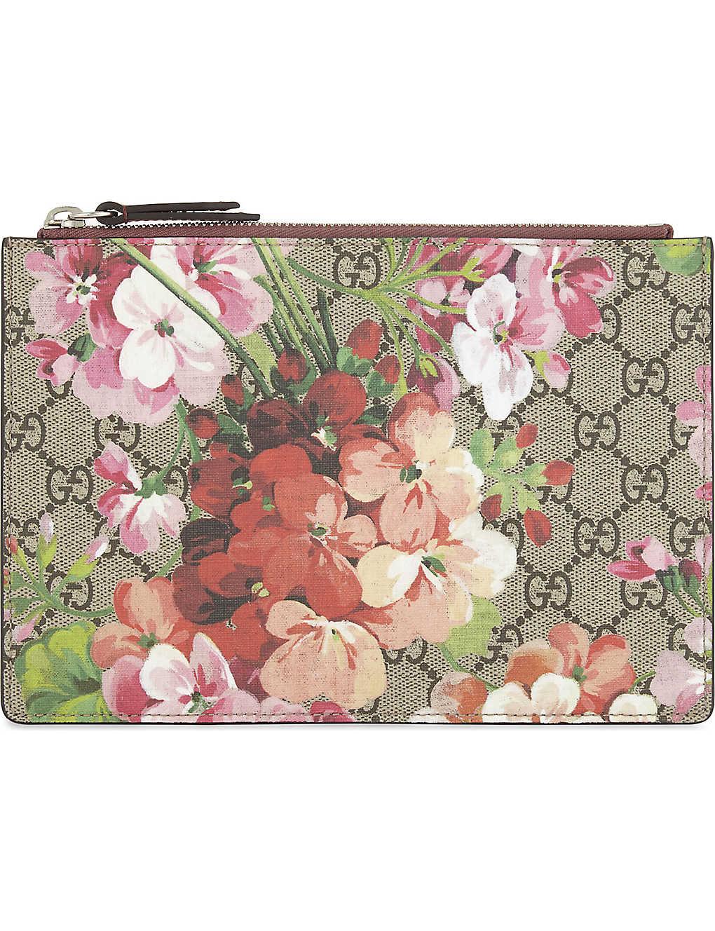 8a99c910c8e9a4 GUCCI - GG Blooms pouch | Selfridges.com