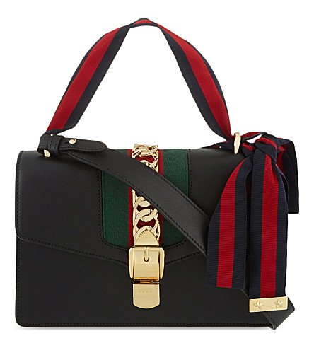 ... GUCCI Sylvie leather shoulder bag (Black. PreviousNext df8c88b3e5c37