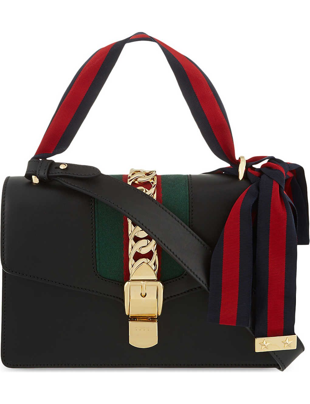 47b6c9afb015 GUCCI - Sylvie leather shoulder bag | Selfridges.com