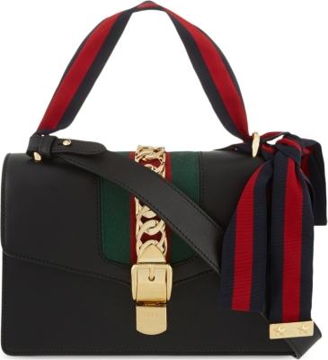 0f92a4446489 GUCCI - Sylvie leather shoulder bag | Selfridges.com