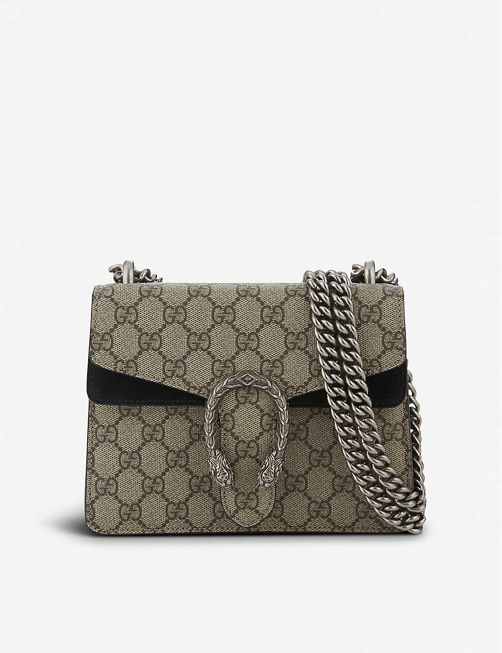 c42b109a16df17 GUCCI - Dionysus Supreme GG canvas and suede shoulder bag ...