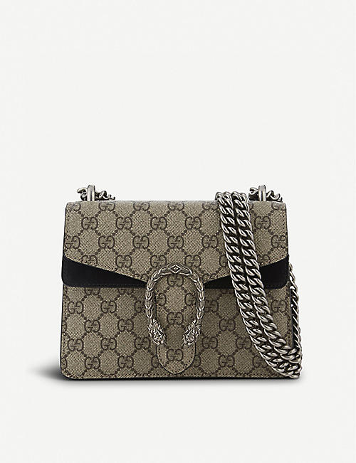 ed5bb467074cb GUCCI Dionysus Supreme GG canvas and suede shoulder bag