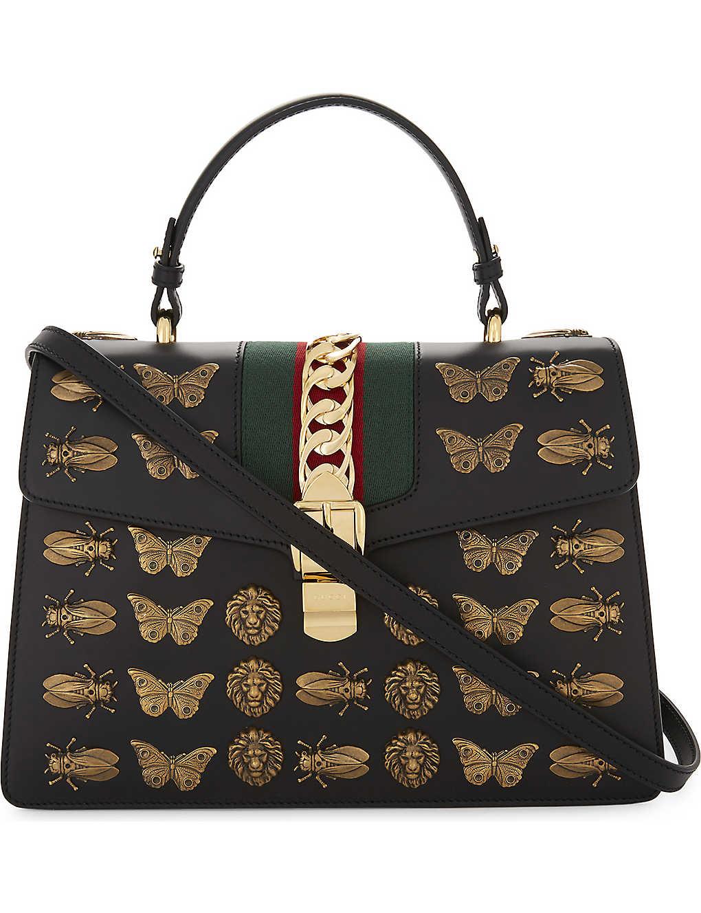 93a2d171a GUCCI - Sylvie medium leather shoulder bag | Selfridges.com