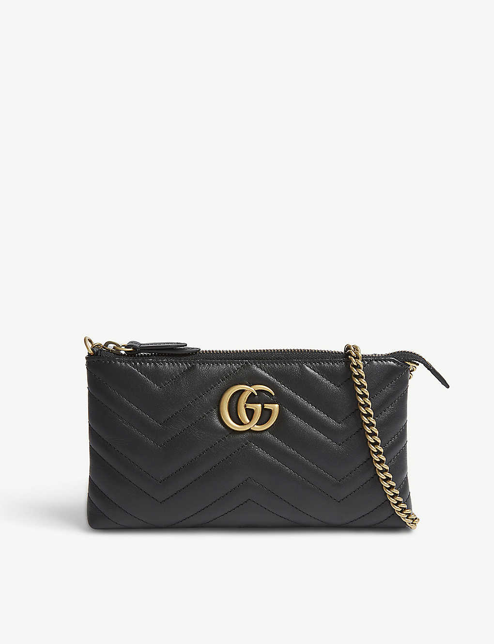 1e7a744c660c8b GUCCI - GG small quilted leather wallet-on-chain | Selfridges.com