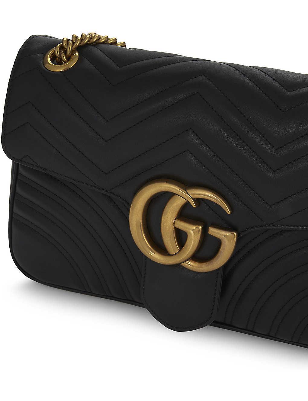 2588e4e51fba GUCCI - GG Marmont medium leather shoulder bag | Selfridges.com