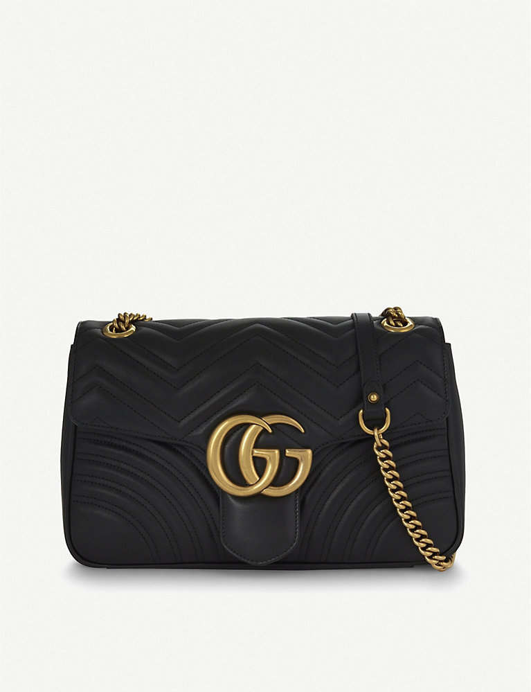 144fc7ce4 GUCCI - GG Marmont medium leather shoulder bag | Selfridges.com
