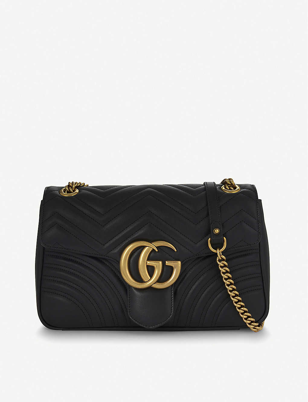 62cba510b8a5 GUCCI - GG Marmont medium leather shoulder bag | Selfridges.com