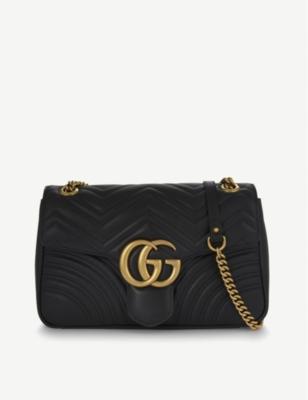 0e4c3017ae88dc GUCCI - GG Marmont medium leather shoulder bag | Selfridges.com