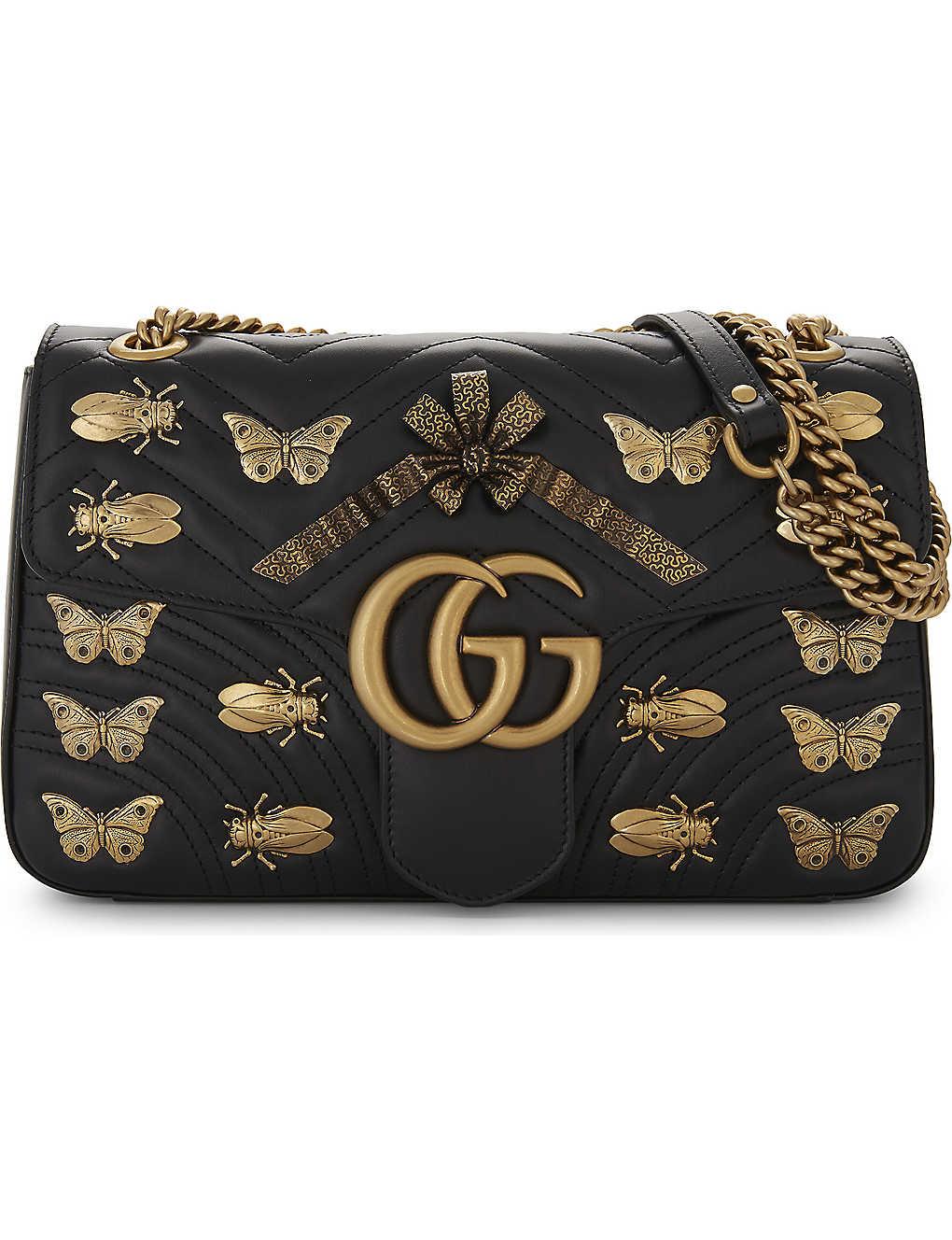 4648172999d9 GUCCI - GG Marmont animal stud cross-body bag | Selfridges.com