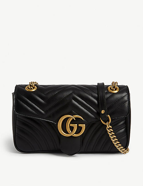 207ccf65f0f3 GUCCI Marmont leather shoulder bag