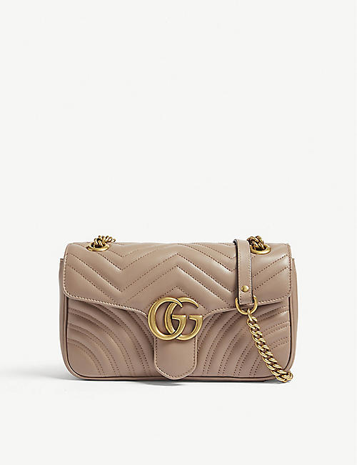 f0afbe70220 GUCCI Marmont GG small quilted leather shoulder bag